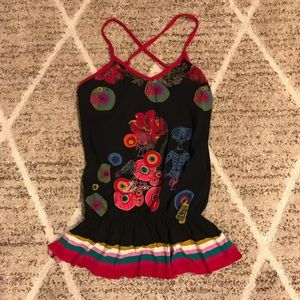 Desigual Funky Rainbow Tank Top Shirt